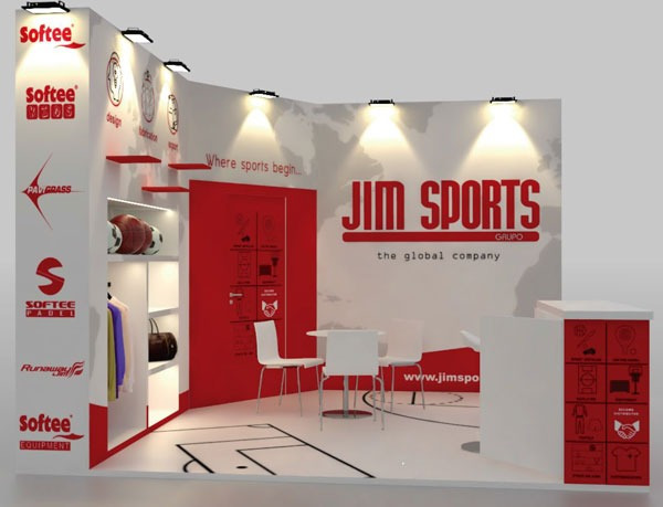 diseño stand Grupo Jim Sports
