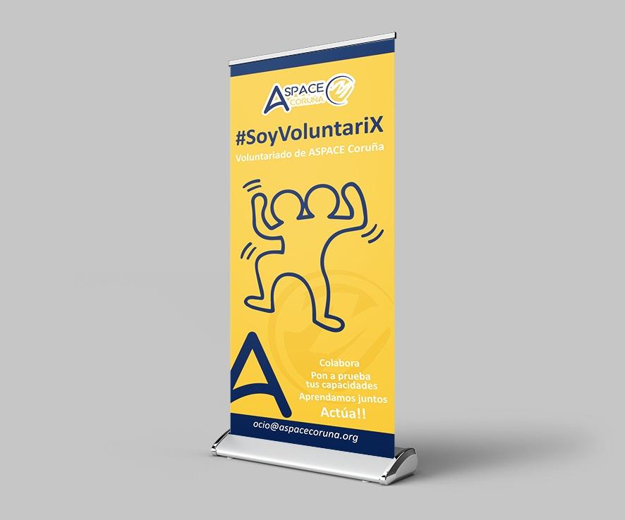 diseño de logotipo y rollup para eventos